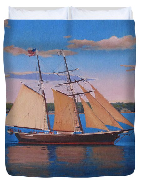 Afternoon Sail Duvet Cover by Dianne Panarelli Miller
