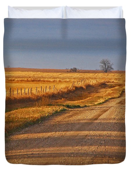 Afternoon Shadows Duvet Cover by Mary Carol Story