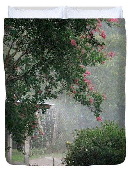 Afternoon Showers Duvet Cover by N S