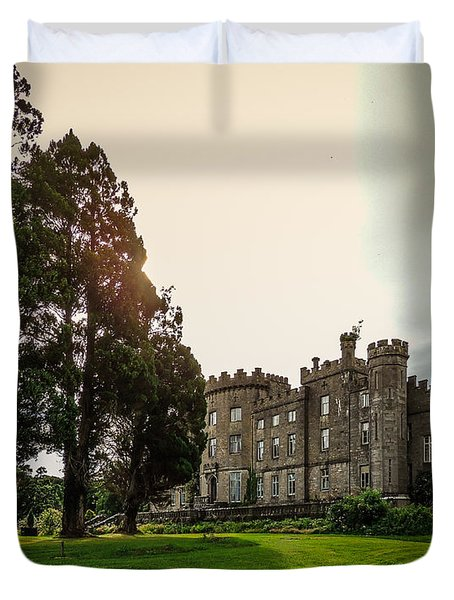 Afternoon Sun Over Markree Castle Duvet Cover