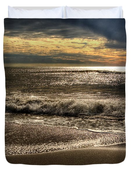 Duvet Cover featuring the photograph Afternoon Swell by Julis Simo