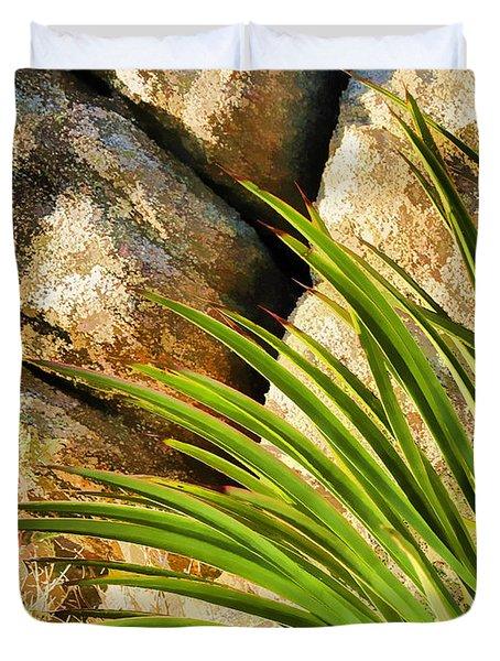 Against The Rocks Duvet Cover by Scott Campbell