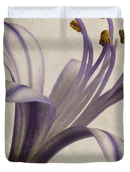 Agapanthus Africanus Star Duvet Cover by John Edwards