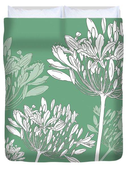 Agapanthus Breeze Duvet Cover