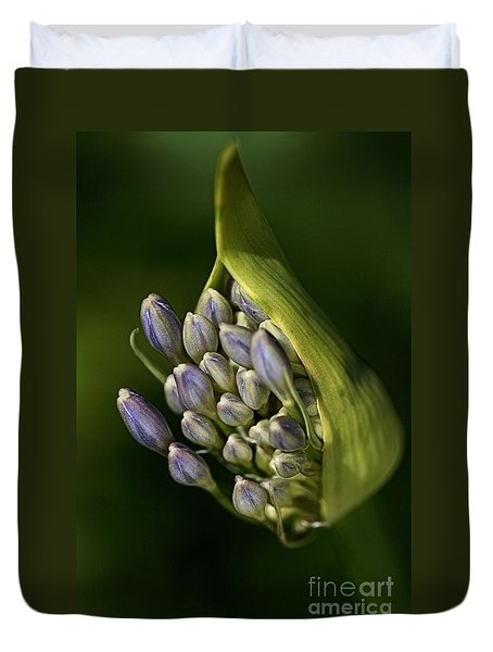 Duvet Cover featuring the photograph Agapanthus by Joy Watson