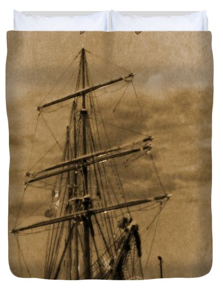 Age Of Sail Poster Duvet Cover by John Malone Halifax photographer
