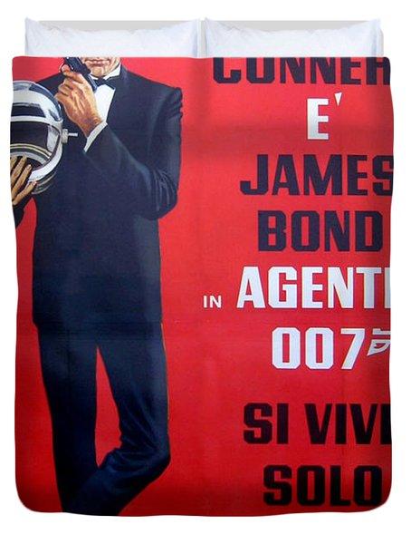 Agente 007 Si Vive Solo Due Volte Duvet Cover by Georgia Fowler