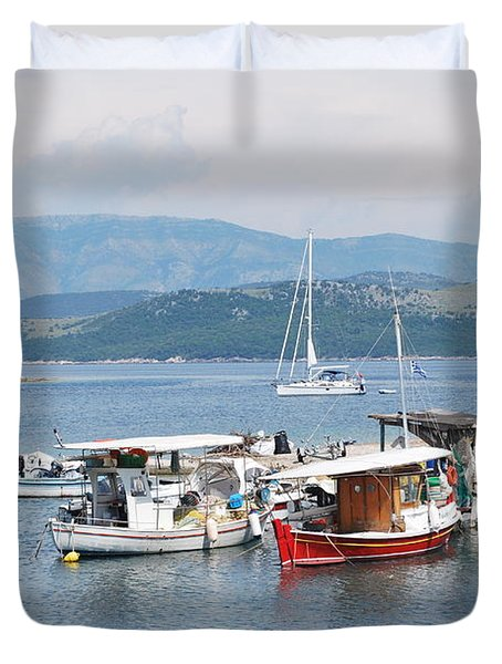 Agios Stefanos Duvet Cover