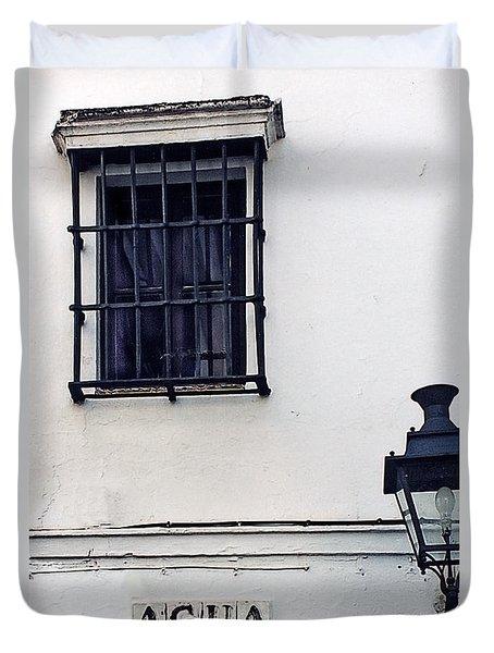Agua Street Duvet Cover