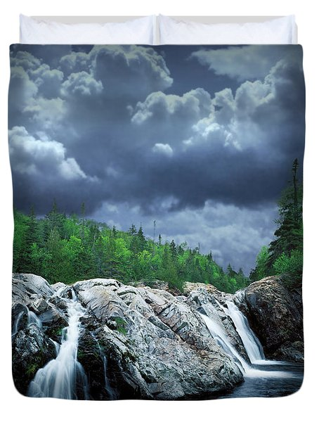 Aguasabon River Mouth Duvet Cover by Randall Nyhof