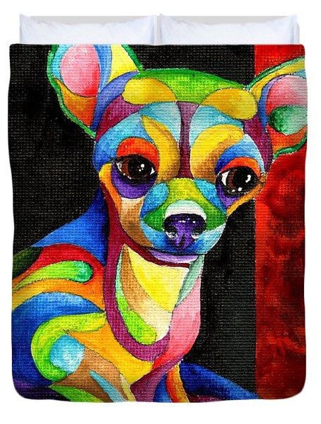 Ah Chihuahua Duvet Cover
