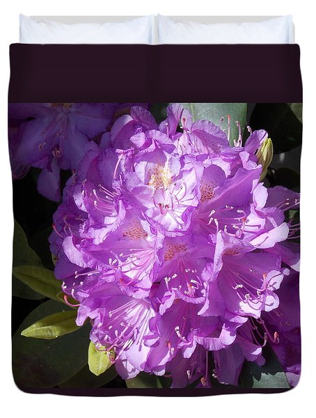 Ah Rhododendron Duvet Cover