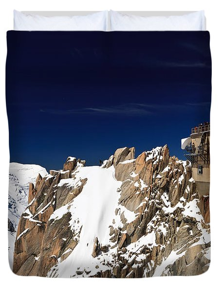 Duvet Cover featuring the photograph Aiguille Du Midi -  Mont Blanc Massif by Antonio Scarpi