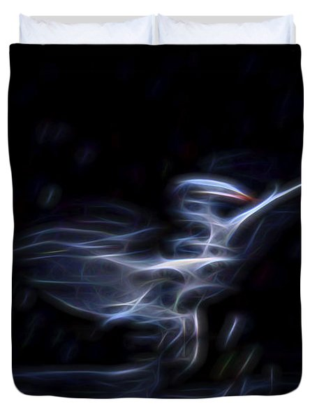 Duvet Cover featuring the digital art Air Elemental 1 by William Horden