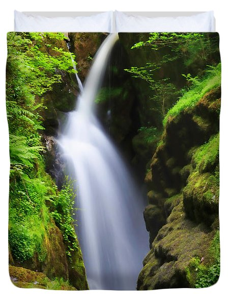 Aira Force In Lake District National Park Duvet Cover