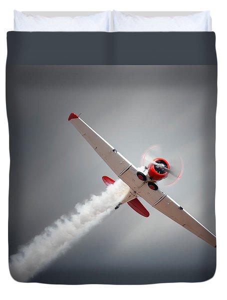 Aircraft In Flight Duvet Cover