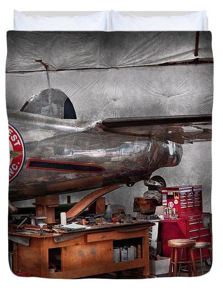 Airplane - The Repair Hanger  Duvet Cover