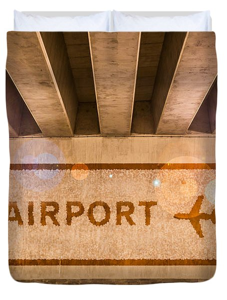 Airport Directions Duvet Cover by Semmick Photo