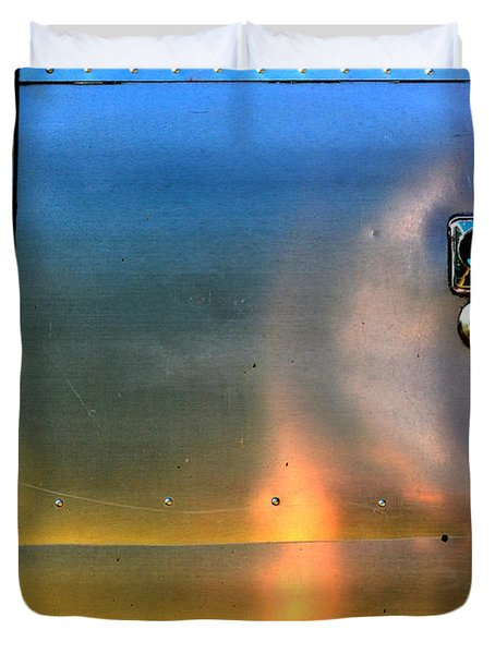 Airstream Sunset Duvet Cover by Newel Hunter