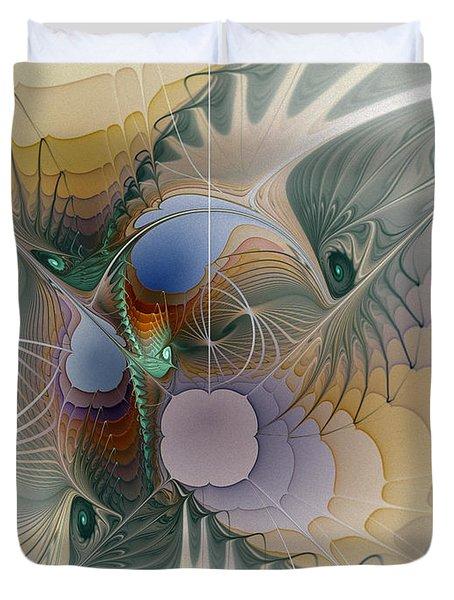 Airy Space-fractal Art Duvet Cover