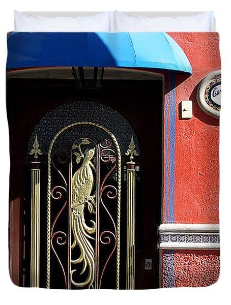 Ajijic Door #8 Duvet Cover