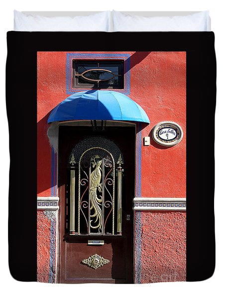 Ajijic Door #8 Duvet Cover
