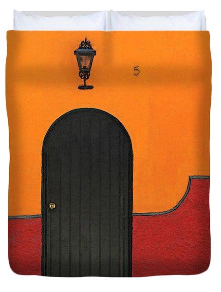 Ajijic Door No.4 Duvet Cover