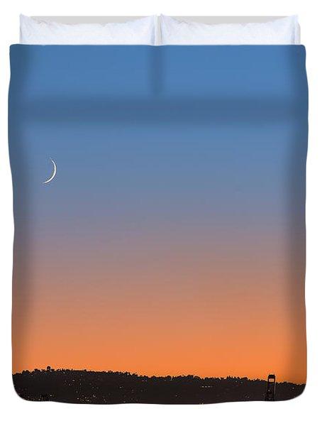 Ajs Moonset Byu Denise Dube Duvet Cover