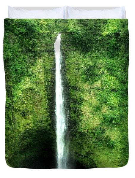 Duvet Cover featuring the photograph Akaka Falls by Kristine Merc