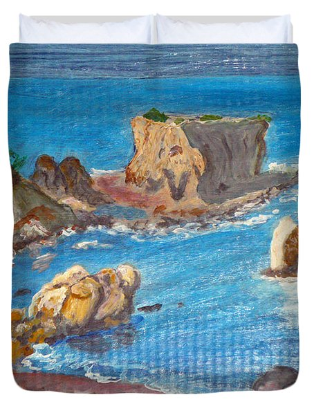 Akamas Paphos Duvet Cover by Augusta Stylianou