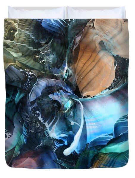 Akashic Memories From Subsurface Duvet Cover by Cristina Handrabur