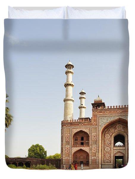 Akbar's Tomb In  India Duvet Cover