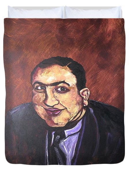 Al Capone Portrait Duvet Cover by Jennifer Noren
