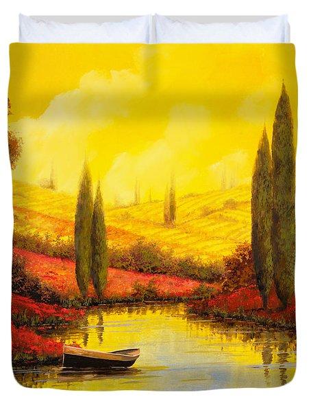 Al Tramonto Sul Torrente Duvet Cover by Guido Borelli