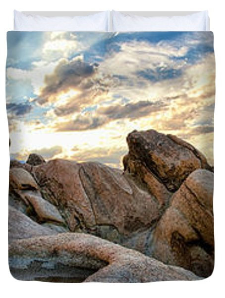 Alabama Hills Sunset Duvet Cover by Cat Connor