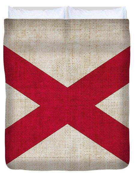 Alabama State Flag Duvet Cover by Pixel Chimp