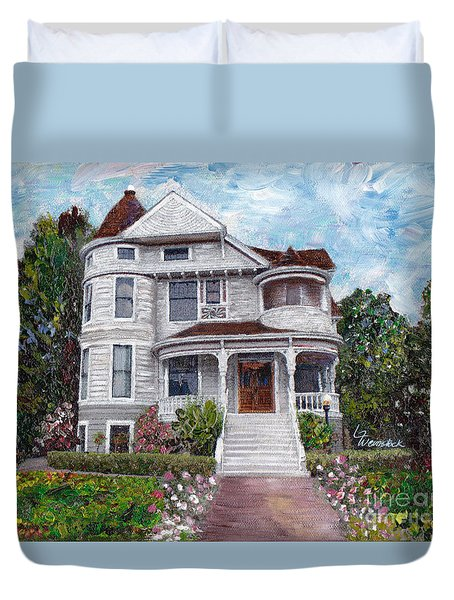 Alameda 1897 - Queen Anne Duvet Cover by Linda Weinstock