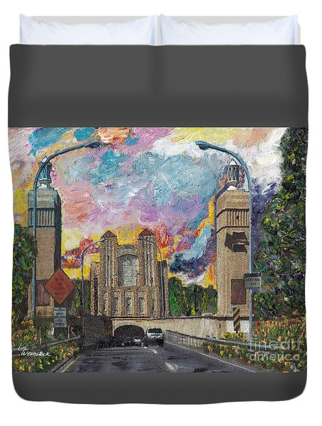 Alameda Webster Posey Tube Portal 1928 Duvet Cover by Linda Weinstock