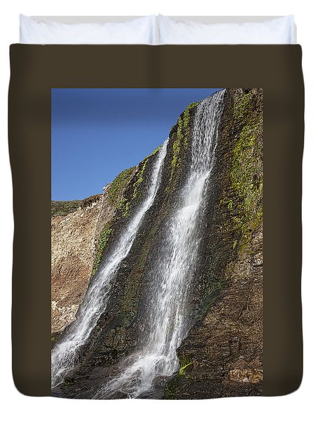Alamere Falls Pacific Coast Duvet Cover by Garry Gay