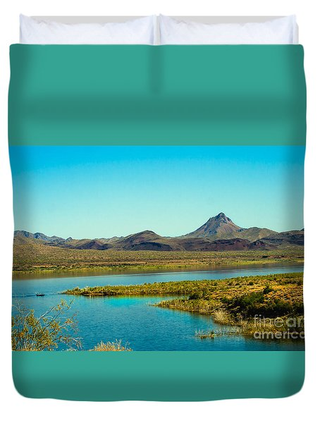 Alamo Lake Duvet Cover by Robert Bales