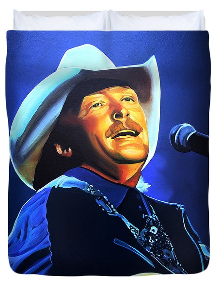 Alan Jackson Painting Duvet Cover
