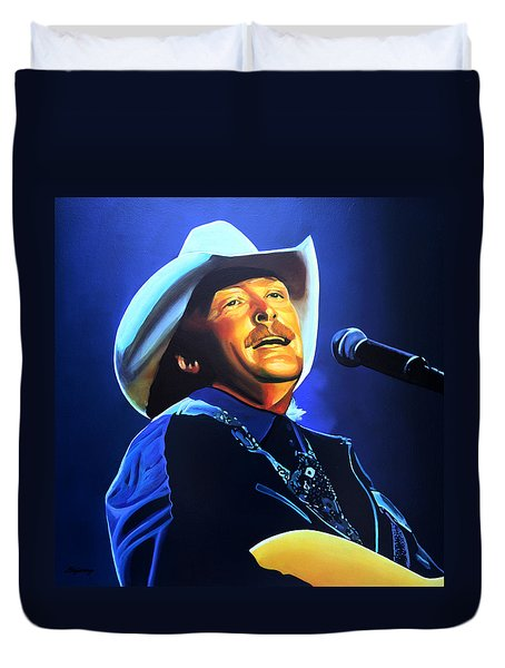 Alan Jackson Painting Duvet Cover