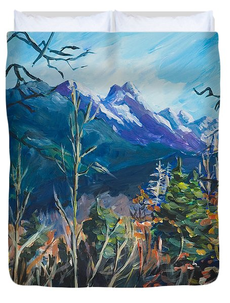 Alaska Autumn Duvet Cover