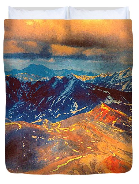Alaska From The Air Duvet Cover