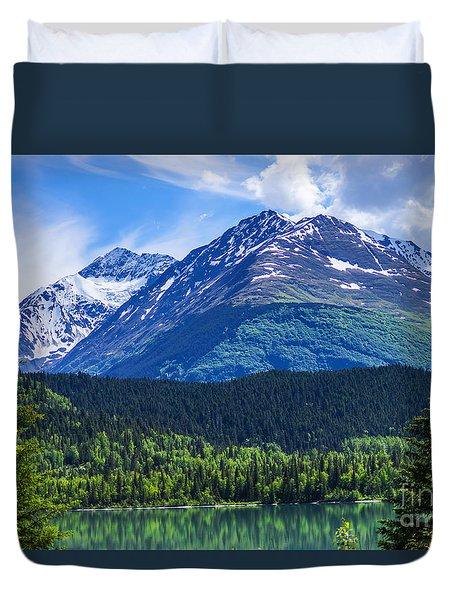 Alaska Scenic Byway Mountain Duvet Cover by Jennifer White