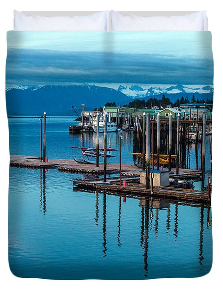 Alaska Seaplanes Duvet Cover by Mike Reid