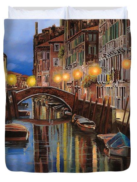alba a Venezia  Duvet Cover