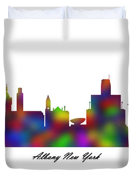Albany New York Rainbow Sandstone Duvet Cover