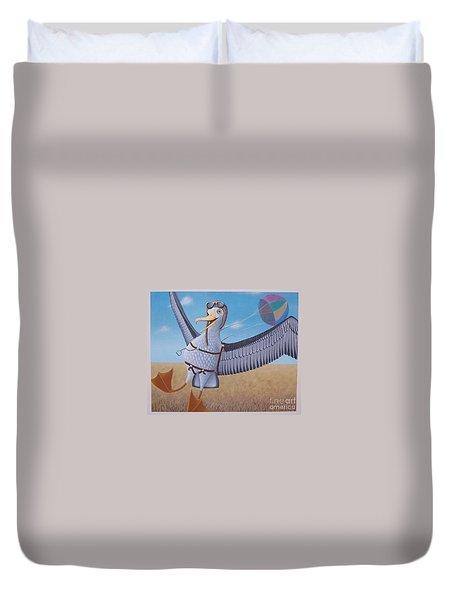 Albatross Landing Duvet Cover
