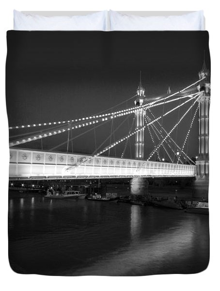Albert Bridge At Night  Duvet Cover